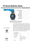 FE Valves SUBMITTAL Data Sheet